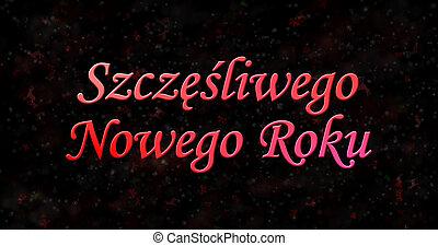 """Happy New Year text in Polish """"Szczesliwego Nowego Roku"""" on..."""