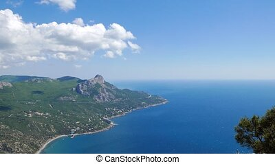 South Crimea, Laspi Bay. Panorama. UltraHD (4K)