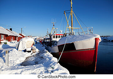 Winter Snow Boat