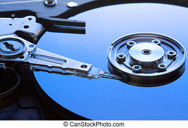 hard disk drive detail - Background can use the Internet,...
