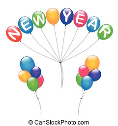 colorful balloons for new year