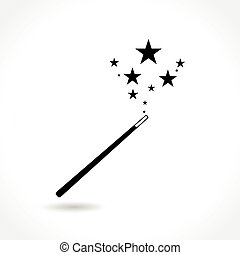 magic wand icon - Illustration of magic wand icon on white...