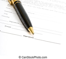 Signing a Document business