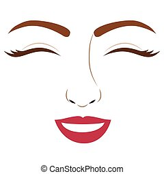 Isolated woman face design