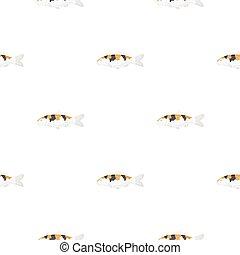 Carp-koi fish icon cartoon. Singe aquarium fish icon from...