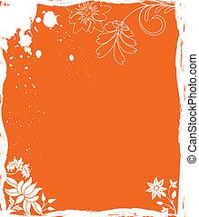 Grunge background flower, elements for design, illustration
