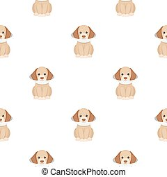 Sick dog vector icon in cartoon style for web