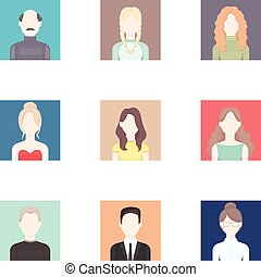 Avatar set icons in cartoon style. Big collection of avatar...