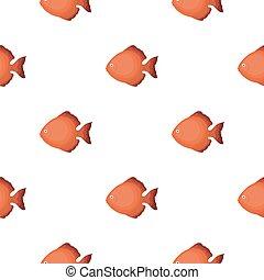 Discus fish icon cartoon. Singe aquarium fish icon from the sea,ocean life cartoon.
