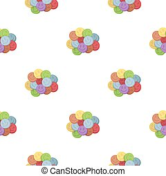 Ecstasy icon in cartoon style isolated on white background....