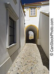 Evora - Arch in the city of Evora, Portugal