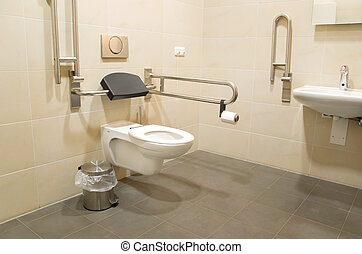 bathroom for disabled people - public restroom for disabled...