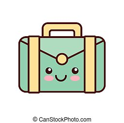 portfolio kawaii style business isolated icon vector...