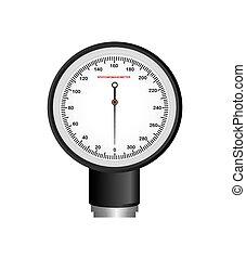 Blood pressure gauge isolated icon vector illustration...