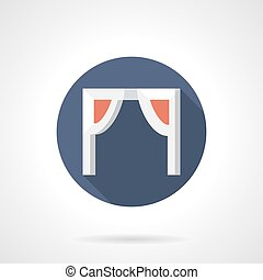 Arch with decor flat round vector icon