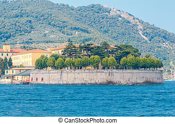 Italy. La Spezia. - Old fortifications near La Spezia....