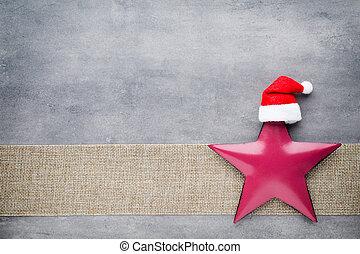 Christmas stars santa hat. Christmas pattern. Background on...