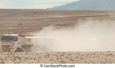Truck In Desert - Andes, Peru