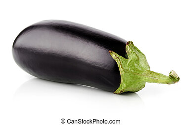 eggplant vegetable fruit isolated on white background