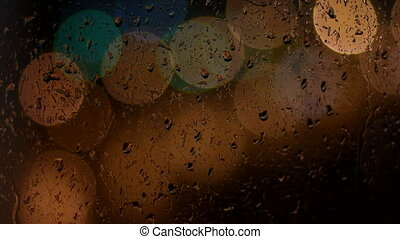 Raindrops running down the window glass - Rainy days,Rain...