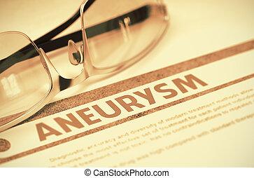Aneurysm. Medicine. 3D Illustration. - Aneurysm - Medicine...