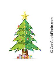 vector background tree Christmas xmas