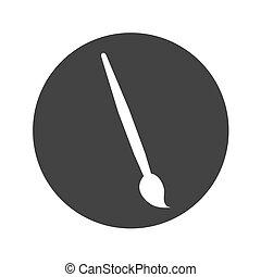 paint brush isolated icon