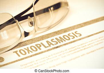 toxoplasmosis, Ilustración, médico, -, diagnóstico,...