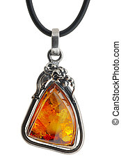Amber pendant - Large women's jewelry, pendant from amber in...