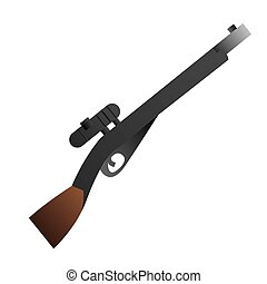 Isolated weapon - Isolated shotgun on a white background,...