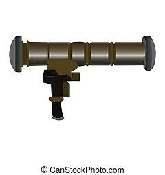 Isolated weapon - Isolated bazooka on a white background,...