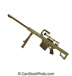 Isolated weapon - Isolated sniper on a white background,...