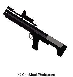 Isolated weapon - Isolated bazooka on a white background,...