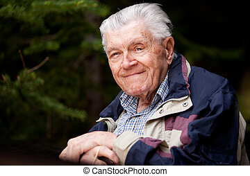 Portrait Elderly Man - A portrait of an elderly man resting...