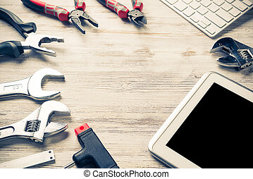 Make online service order - Set of industrial tools and...