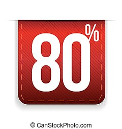 Eighty percent off ribbon red