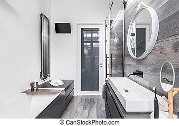 Small, bright bathroom