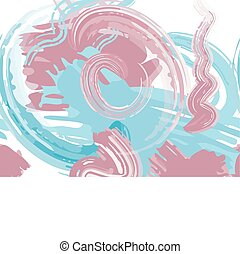 Abstract vector background with oil paint strokes imitation...