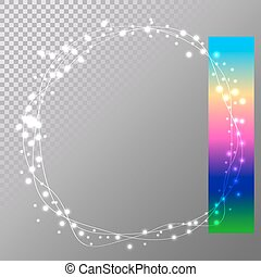 abstract circle christmas lights easy to edit, wreath for xmas h