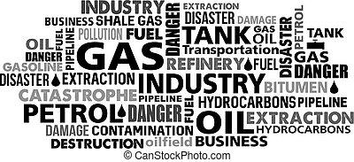 Gas petrol industry word cloud - gas petrol industry word...
