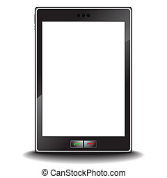 Modern cell phone pda - Vector - Illustration of a modern...