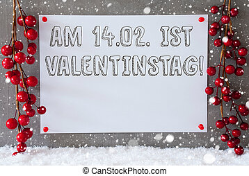 Label, Snowflakes, Decoration, Valentinstag Means Valentines...