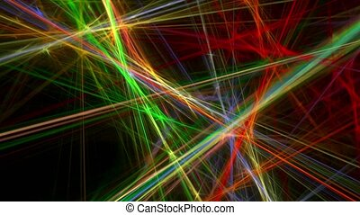 Colorful lines abstract loop motion background - Colorful...