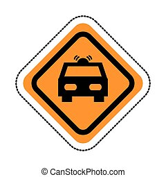 patrol vehicle silhouette isolated icon vector illustration...