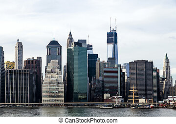 Lower Manhattan Skyline - Lower Manhattan skyline, New-York