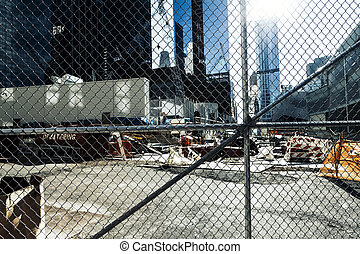 Construction Site New York - A view of a construction site...