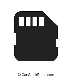 micro sd card isolated icon vector illustration design