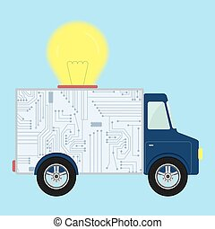 Truck with light bulb