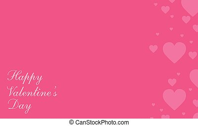 Happy Valentine Day style greeting card