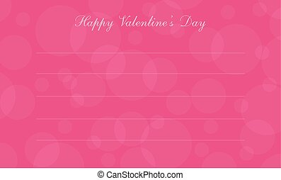 Greeting card for valentine day